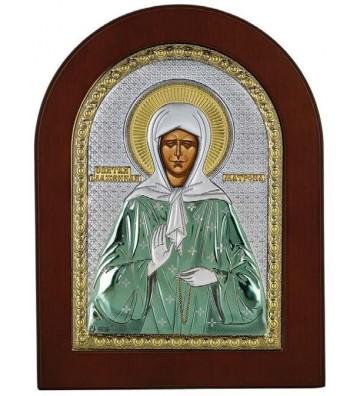 Ασημένια Εικόνα Αγία Ματρώνα