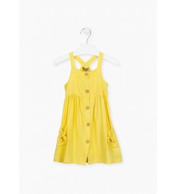 Φόρεμα Πουά Αμάνικο Losan
