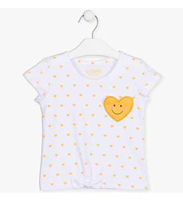 Μπλουζάκι με Καρδιές Losan