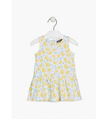 Φόρεμα με Λεμόνια Losan