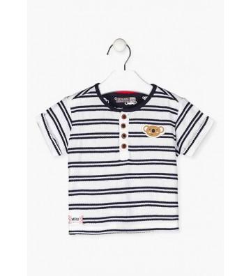 Ριγέ Βρεφικό Μπλουζάκι Losan